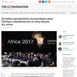 De belles perspectives économiques pour l'Afrique subsaharienne et cinq raisons d'y croire