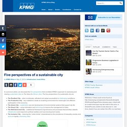 Five perspectives of a sustainable city - Blog KPMG Africa