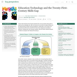 Education Technology and the Twenty-First-Century Skills Gap