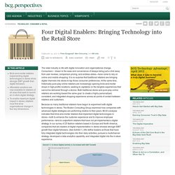 Four Digital Enablers: Bringing Technology into the Retail Store