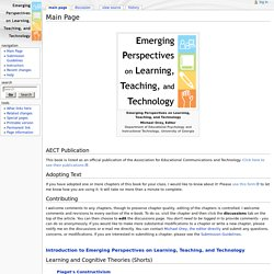 Main Page - Emerging Perspectives on Learning, Teaching and Tech