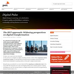 The BXT approach: Widening perspectives on digital transformation