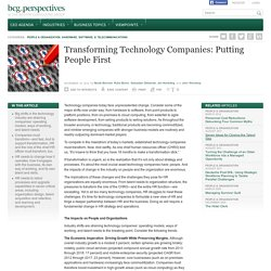 Transforming Technology Companies: Putting People First