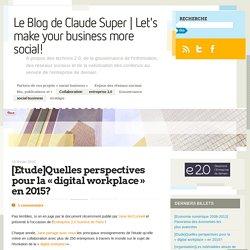 [Etude]Quelles perspectives pour la «digital workplace en 2015?
