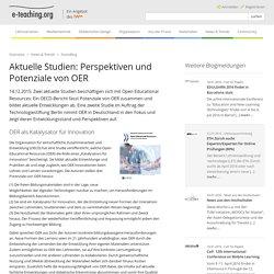 Aktuelle Studien: Perspektiven und Potenziale von OER