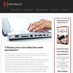 7 étapes pour une rédaction web persuasive ! – Ecritoriales.com