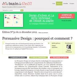 Persuasive Design : pourquoi et comment ?