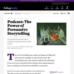 Podcast: The Power of Persuasive Storytelling