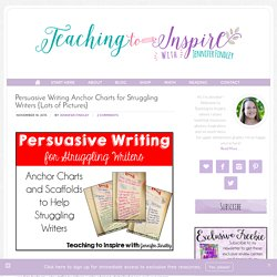 Persuasive Writing Anchor Charts for Struggling Writers {Lots of Pictures} - Teaching to Inspire with Jennifer Findley