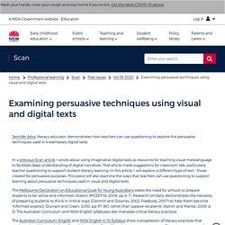 Examining persuasive techniques using visual and digital texts