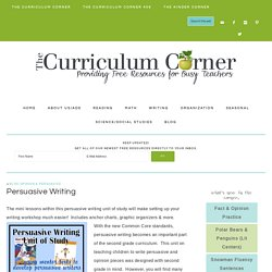 Persuasive Writing - The Curriculum Corner 123