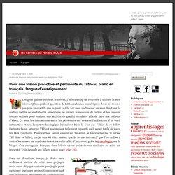 Pour une vision proactive et pertinente du tableau blanc en français, langue d'enseignement