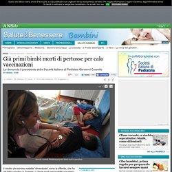 Già primi bimbi morti di pertosse per calo vaccinazioni - Medicina - Salute Bambini