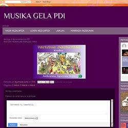 MUSIKA GELA PDI: PERTSIAR MERKATUAN PERKUSIO-TXIKIA