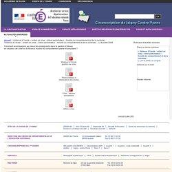 Violence à l'école – enfant en crise – élève perturbateur – trouble du comportement et de la conduite… - Circonscription de Joigny Centre Yonne