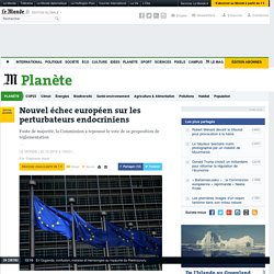 Nouvel échec européen sur les perturbateurs endocriniens