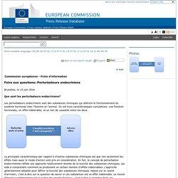 EUROPA_EU 15/06/16 Foire aux questions: Perturbateurs endocriniens