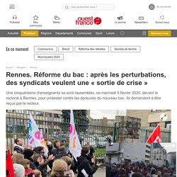 Rennes. Réforme du bac : après les perturbations, des syndicats veulent une « sortie de crise »