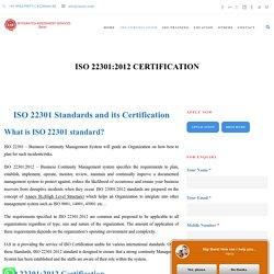 IAS Peru ISO 22301:2012 CERTIFICATION - IAS Peru