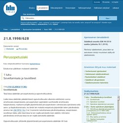 Perusopetuslaki 628/1998 - Ajantasainen lainsäädäntö - FINLEX ®