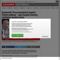 Kommentti: Perussuomalaiset hyppäsi Putinin kelkkaan – jopa Karjalan menetys näyttäytyy hyvänä asiana