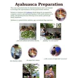 Peruvian Ayahuasca recipe