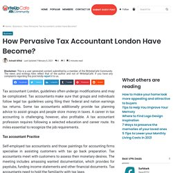How Pervasive Tax Accountant London Have Become?