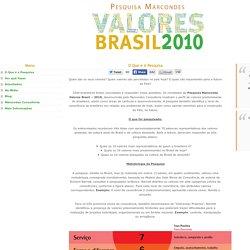 Pesquisa Marcondes: VALORES BRASIL 2010