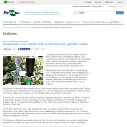 Pesquisador cria irrigador solar automático com garrafas usadas