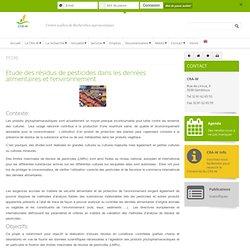 CENTRE WALLON DE RECHERCHES AGRONOMIQUES - OCT 2012 - Etude des résidus de pesticides dans les denrées alimentaires