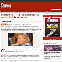 De Menthon et le «pessimisme français qui privilégie l'assistanc