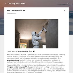 Pest Control Services NY
