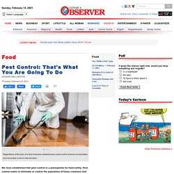 JAMAICA OBSERVER 04/02/21 Pest Control: That's What You Are Going To Do