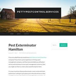Pest Exterminator Hamilton