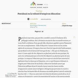 Pestalozzi ou la volonté d'utopie en éducation