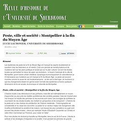 Peste, ville et société : Montpellier à la fin du Moyen Âge – RHUS