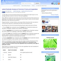 Latest Pesticide Analysis of Common Fruits and Vegetables