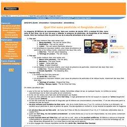 Quel thé sans pesticide ni fongicide choisir ? - 24/02/2012