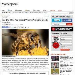 MOTHER JONES 14/05/15 Bee Die-Offs Are Worst Where Pesticide Use Is Heaviest