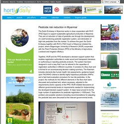 HORTI DAILY 23/01/18 Pesticide risk reduction in Myanmar