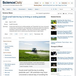 Could smell hold the key to limiting or ending pesticide use?