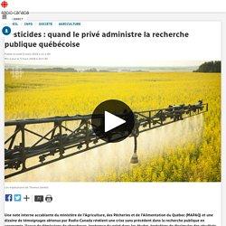 Pesticides: quand le privé administre la recherche publique québécoise