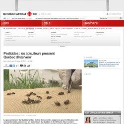 RADIO CANADA 29/01/15 Pesticides : les apiculteurs pressent Québec d'intervenir