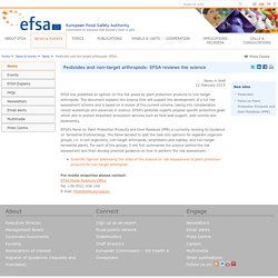 EFSA 12/02/15 Pesticides and non-target arthropods: EFSA reviews the science