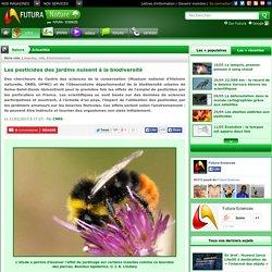 Les pesticides des jardins nuisent à la biodiversité