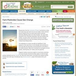 Farm Pesticides Cause Sex Change