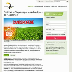 Pesticides : Stop aux poisons chimiques de Monsanto