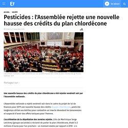 Pesticides : l'Assemblée rejette une nouvelle hausse des crédits du plan chlordécone