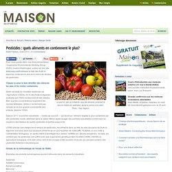 Pesticides : quels aliments en contiennent le plus?