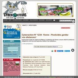 Yonne : Pesticides gardez vos distances! cyberaction